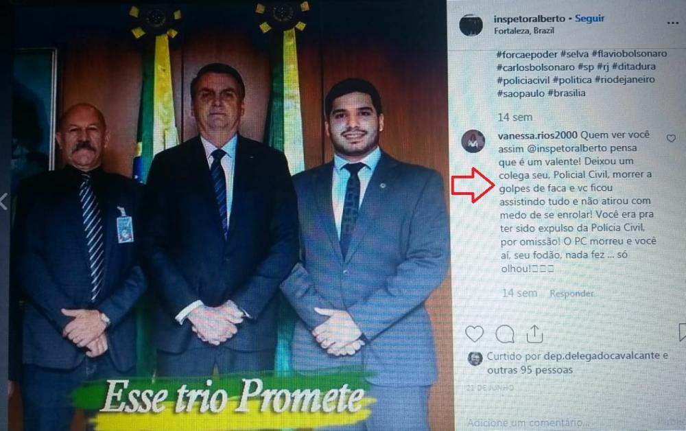 Policial Civil lotado em gabinete de Deputado não combate os atentados, mas atira em foto do LULA e vira chacota no Ceará
