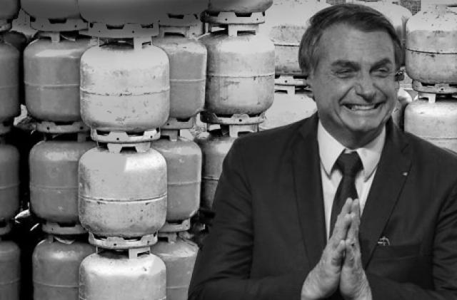 Após promessa de gás a R$ 30,00, Bolsonaro autoriza aumento e botijão chega a R$ 100,00