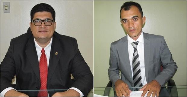 Vereadores Marcelo Mota (PDT) e Martinez Duarte (PT)
