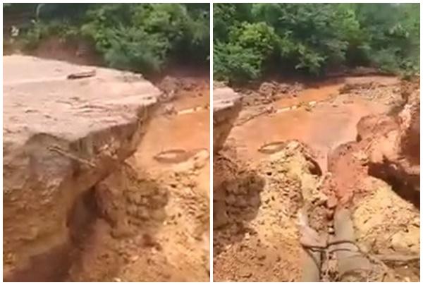 Prefeito decreta Estado de calamidade após ponte romper em estrada vicinais de Guaribas