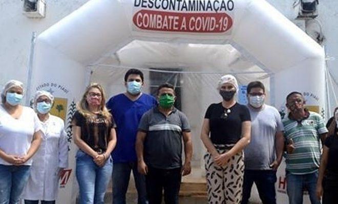 Hospital Regional de Campo Maior começa a usar túnel inflável de descontaminação de pessoas